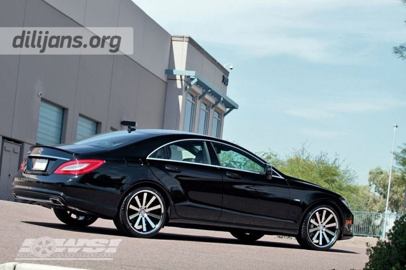диски Gianelle Santo 2SS Machined Black на Mercedes Benz CLS
