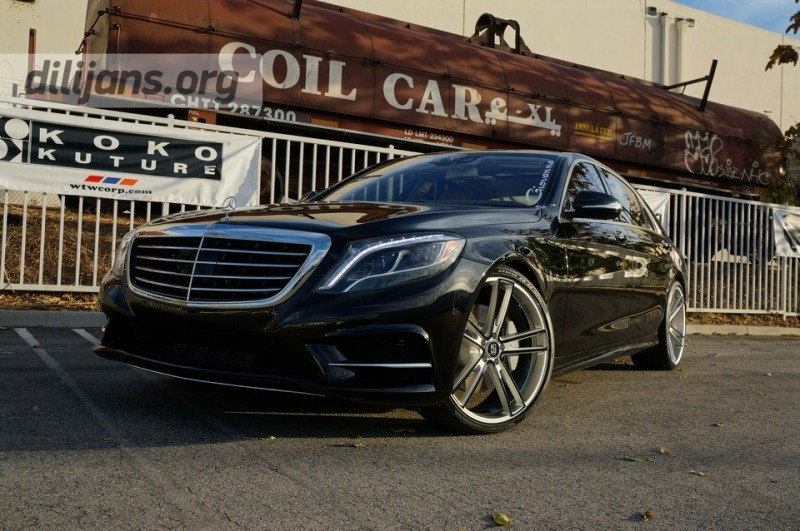 диски Koko Kuture Massa-5 Silver Black на Mercedes Benz S550 W222