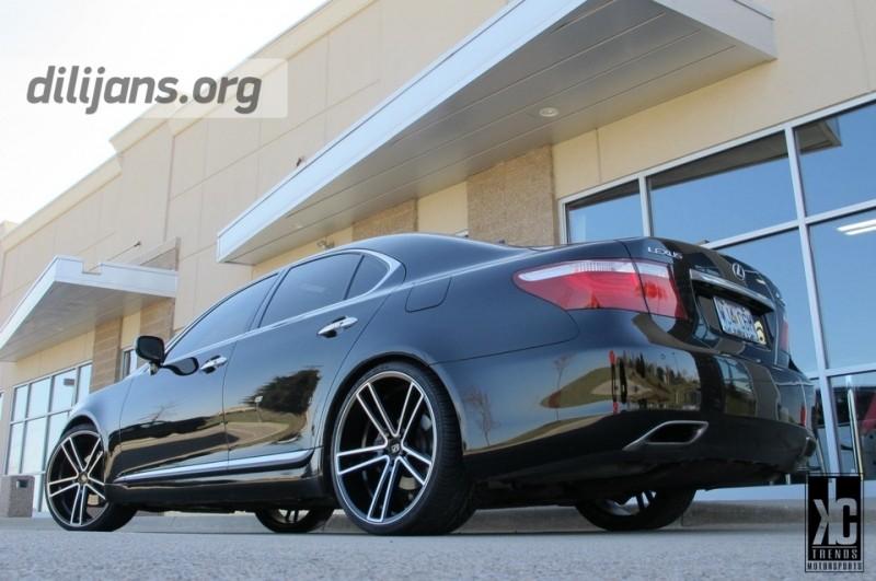 диски Koko Kuture Massa-5 Machined Black на Lexus LS