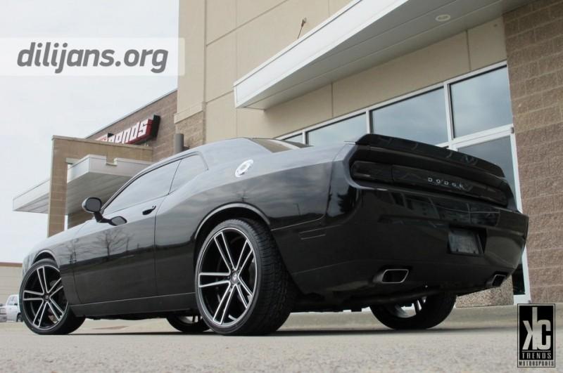 диски Koko Kuture Massa-5 Machined Black на Dodge Challenger