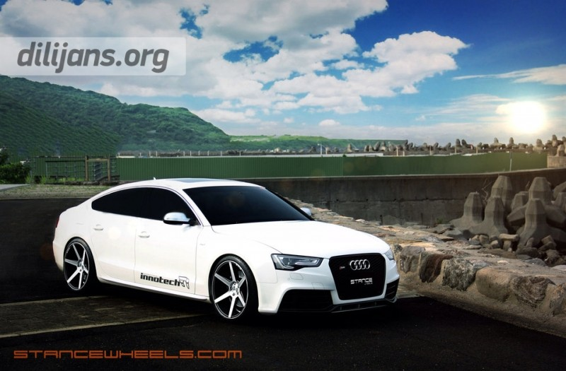 диски Stance Wheels SC-6 Machined Slate Grey на Audi S5 Sportback