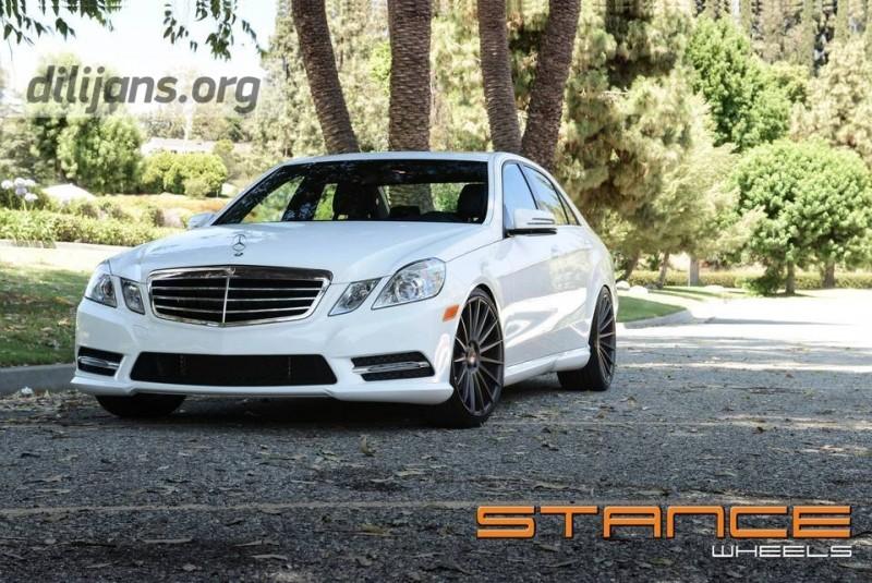 диски Stance Wheels SC-7 Slate Grey на Mercedes Benz E Class