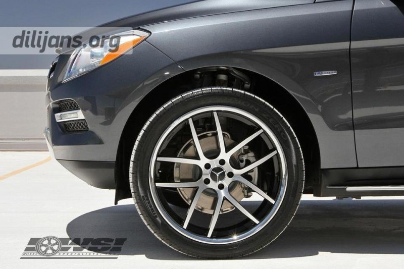 диски Giovanna Monza Machined Black на Mercedes Benz ML