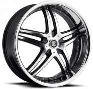 Фото диска 2Crave №17 8x20 5/108 ET40 DIA 74.1 Gloss Black/Machined Face/Chro
