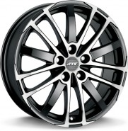 Фото диска ATS X-treme 7.5x17 5/112 ET37 DIA 70.1 Racing Black Front Polished