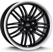 Фото диска Alutec BlackSun 8.5x19 5/114.3 ET40 DIA 70.1 Racing Black Lip Polished