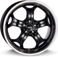 Фото диска Alutec Boost 9x20 5/114.3 ET35 DIA 76.1 Diamond Black Steel Lip