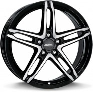 Фото диска Alutec Poison 7x17 5/114.3 ET38 DIA 70.1 Diamond Black Front Polished