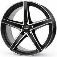 Фото диска Alutec Raptr 8.5x20 5/108 ET45 DIA 63.4 Racing Black Front Polished
