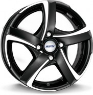 Фото диска Alutec Shark 4 7x17 4/98 ET35 DIA 58.1 Racing Black Front Polished