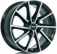 Фото диска Alutec Singa 6.5x16 5/108 ET50 DIA 63.4 Diamond Black Front Polished