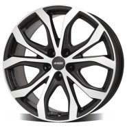 Фото диска Alutec W10 9x20 5/108 ET43 DIA 70.1 Racing Black Front Polished