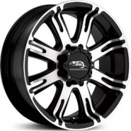 Фото диска American Racing AR708 9.5x22 8/165.1 ET0 DIA 125 Black/Machined