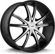 Фото диска American Racing AR897 9x22 5/127 ET38 DIA 72.6 Black/Machined