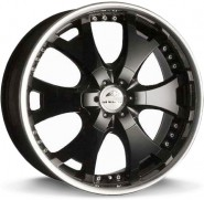Фото диска Antera 361 9.5x20 6/139.7 ET12 DIA 110.1 Racing Black Lip Polished