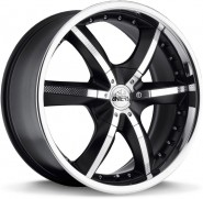 Фото диска Antera 389 9.5x20 6/139.7 ET12 DIA 108.6 Racing Black Lip Polished