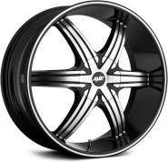 Фото диска Avenue A606 7.5x17 5/108 ET40 DIA 73 Gloss Black/Machined Face