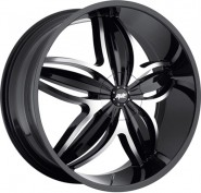 Фото диска Avenue A609 8x20 5/108 ET40 DIA 73 Gloss Black/Machined Face