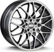 Фото диска BBS RX 8.5x20 5/112 ET45 DIA 82 Satin Black Diamond Cut