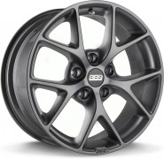 Фото диска BBS SR 8x18 5/100 ET48 DIA 70 Vulcano Grey Diamond Cut