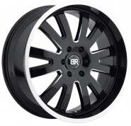 Фото диска BLACK RHINO COLUMBIA 9.5x22 5/150 ET25 DIA 110.1 Gloss Black Mirror Machine Cut