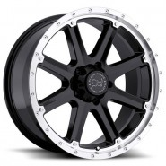 Фото диска BLACK RHINO MOAB 9x20 8/165.1 ET-12 DIA 120 Gloss Black