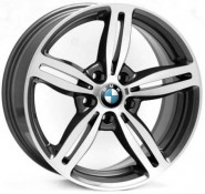 Фото диска BMW W652 Agropoli 8x17 5/120 ET15 DIA 72.6 anthracite polished