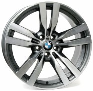 Фото диска BMW W672 Pandora 10x22 5/120 ET40 DIA 74.1 anthracite polished