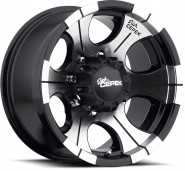 Фото диска DICK CEPECK DC-2 9x20 6/139.7 ET-13 DIA 108 Matte Black w/ Machined Face