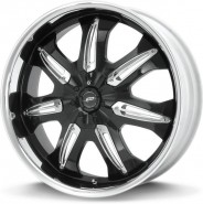 Фото диска Dale Earnhardt Jr. DJ381 8x18 5/108 ET40 Gloss Blk/Machined
