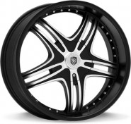 Фото диска Dropstars DS09 9.5x22 5/115 ET35 DIA 74.1 Black/Machined