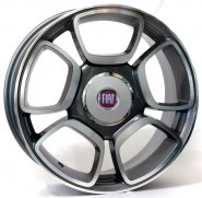 Фото диска FIAT W157 FORIO 7x17 4/100 ET0 DIA 56.6 anthracite polished
