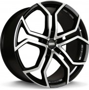 Фото диска Fondmetall 9XR 9x20 5/127 ET45 DIA 71.6 BLACK POLISHED