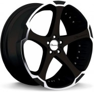 Фото диска Giovanna Dalar-5 8.5x20 5/112 ET25 DIA 66.6 Machined Black