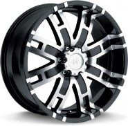 Фото диска HELO HE835 9.5x22 8/165.1 ET18 DIA 125 Black/Machined