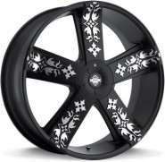Фото диска KMC KM669 8.5x22 5/115 ET38 DIA 74.1 Black/Machined