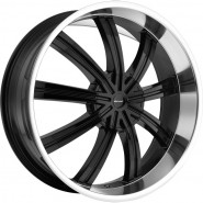 Фото диска KMC KM672 9.5x24 6/139.7 ET35 DIA 78.1 Black/Machined