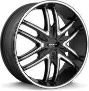 Фото диска KMC KM678 9.5x24 6/139.7 ET38 DIA 78.1 Black/Machined