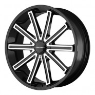 Фото диска KMC KM681 8.5x20 5/112 ET38 DIA 72.6 Black/Machined