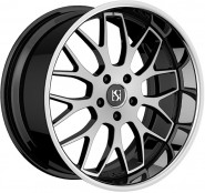 Фото диска Koko Kuture Fann 9x22 5/112 ET35 DIA 66.6 Machined Black