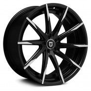 Фото диска Lexani CSS-15 8.5x20 5/130 ET40 DIA 74.1 Black/Machined
