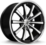 Фото диска Lexani CVX-55 10.5x20 5/120 ET35 DIA 74.1 Black/Machined/Chrome Lip