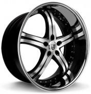 Фото диска Lexani LSS 5 8.5x20 5/112 ET32 DIA 74.1 Black/Machined