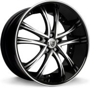 Фото диска Lexani LSS 55 9x24 5/150 ET35 DIA 110.1 Black/Machined/Chrome Lip