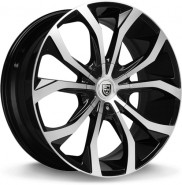 Фото диска Lexani Lust 7.5x17 5/114.3 ET40 DIA 73 Black/Machined