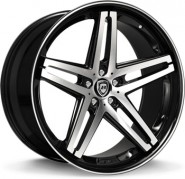 Фото диска Lexani R-FIVE 8.5x20 5/112 ET38 DIA 74.1 Black/Machined/Chrome Lip