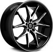 Фото диска Lexani R12 8.5x20 5/108 ET35 DIA 74.1 Black/Machined