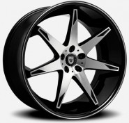 Фото диска Lexani R14 9x22 5/120 ET32 DIA 74.1 Black/Machined