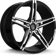 Фото диска Lexani R3 8.5x19 5/108 ET35 DIA 74.1 Black/Machined