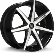 Фото диска Lexani R7 8.5x19 5/108 ET35 DIA 74.1 Black/Machined